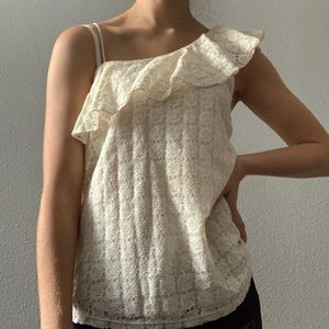 Hollister | Lace One-Shoulder Tank Top